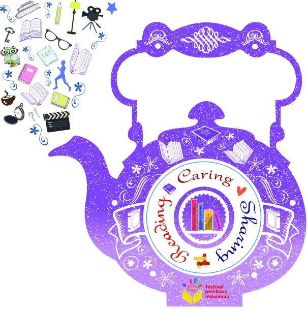 Goodreads Sharing Cup of Tea Theme (TAGLINE BESAR Ungu Muda Baru